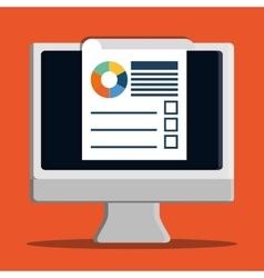 Development with gadget design desktop vector