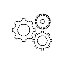 dotted shape gears engineering industry process vector image vector image