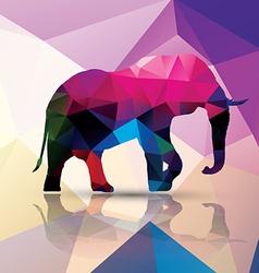 Geometric polygonal elephant pattern design vector image vector image