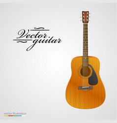 isolated on white acoustic guitar vector image vector image