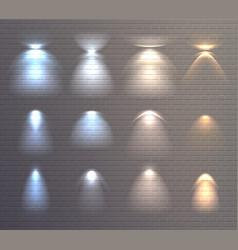 light effects brick wall set vector image vector image