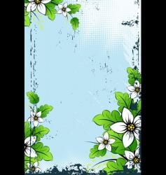 vector grunge floral background vector image