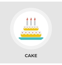 Cake flat icon vector image