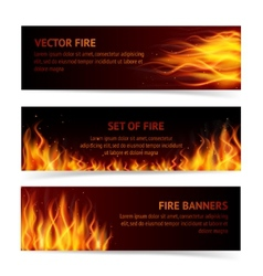 Flame banner set vector image vector image