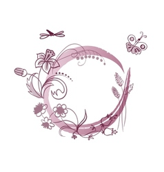 Floral frame with place for your text vector image vector image