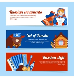 Russia travel banner set vector image