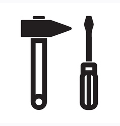Screwdriver Hammer vector image
