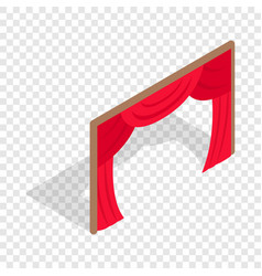 stage curtains isometric icon vector image