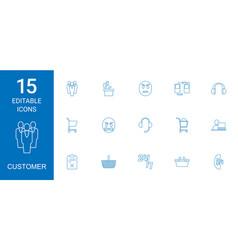 15 customer icons vector