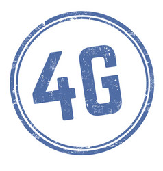 4g round sign or stamp vector image