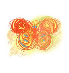 abstract colorful butterflies background vector image
