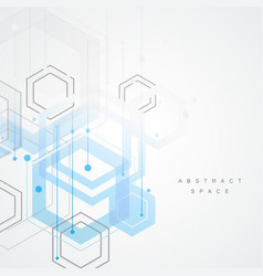 Abstract connect hexagonal structure background vector