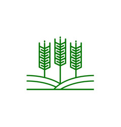 agriculture logo template design icon vector image