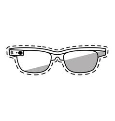 Ar smart glasses device virtual shadow vector