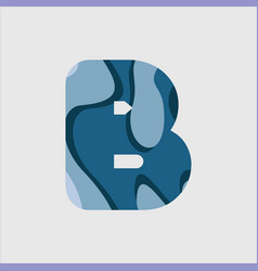 B water font template design vector