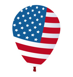 balloon flag american decoration festive vector image