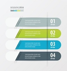Banner Rounded design green blue gray color vector