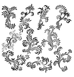 beautiful curls silhouette vector image