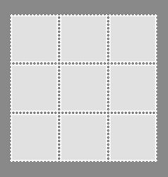 blank postage stamps template vector image