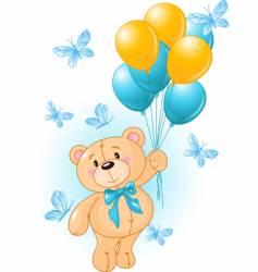 boy teddy vector image