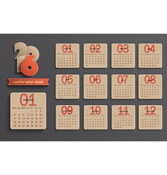 Calendar on 2016 vector image