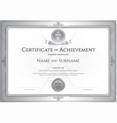 certificate of achievement template with award vector image