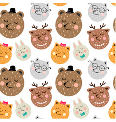 Childrens seamless pattern in scandinavian style vector