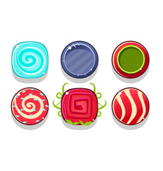 colorful glossy balls set shiny candies or vector image