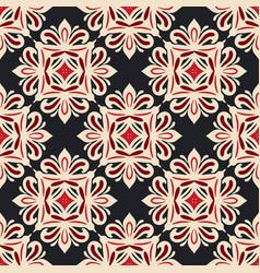 Damask seamless tiles design vector