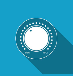 Dial knob level technology settings icon vector