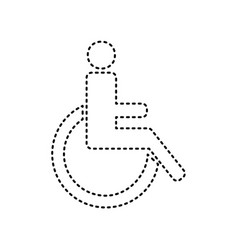Disabled sign black dashed vector