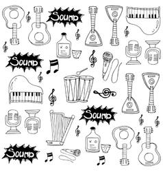 Doodle musical instrument vector