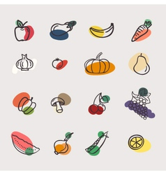 Eatset of vegetables vector