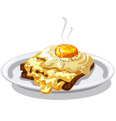 Eggs with toast vector