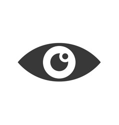 Eye healthcare and medical related solid icon vector