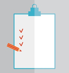 Forms with pencil and Checklist Flat style vector