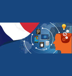 france it information technology digital vector image