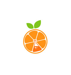 fruit lab logo vector image