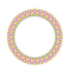 Geometrical floral border - round design element vector