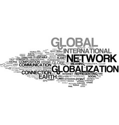 Globalization word cloud concept vector
