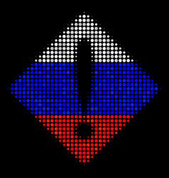 halftone russian problem icon vector image