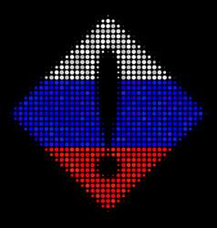 halftone russian problem icon vector image