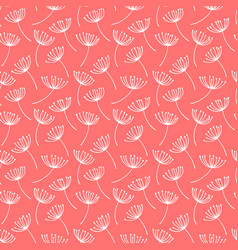 hand drawn pattern with decorative dandelion seeds vector image