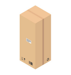 hight delivery box icon isometric style vector image