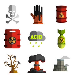 Image objects polluting the environment nuclear vector