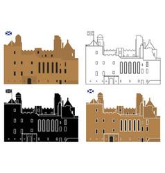 Linlithgow scottish royal palace uk vector