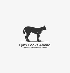 lynx looks ahead template vector image