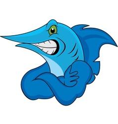 marlin fish vector image