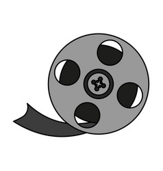 Movie film icon image vector