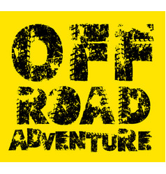 Offroad lettering image vector
